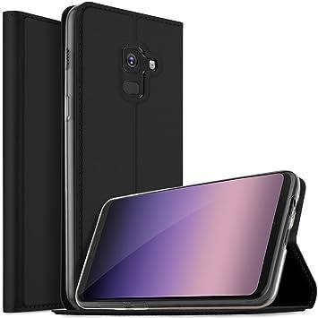ed79ff4f4a4 Funda Samsung Galaxy A5 2018, Samsung Galaxy A8 2018 case, KuGi Flip Cover  Carcasa Cubierta de cuero ...