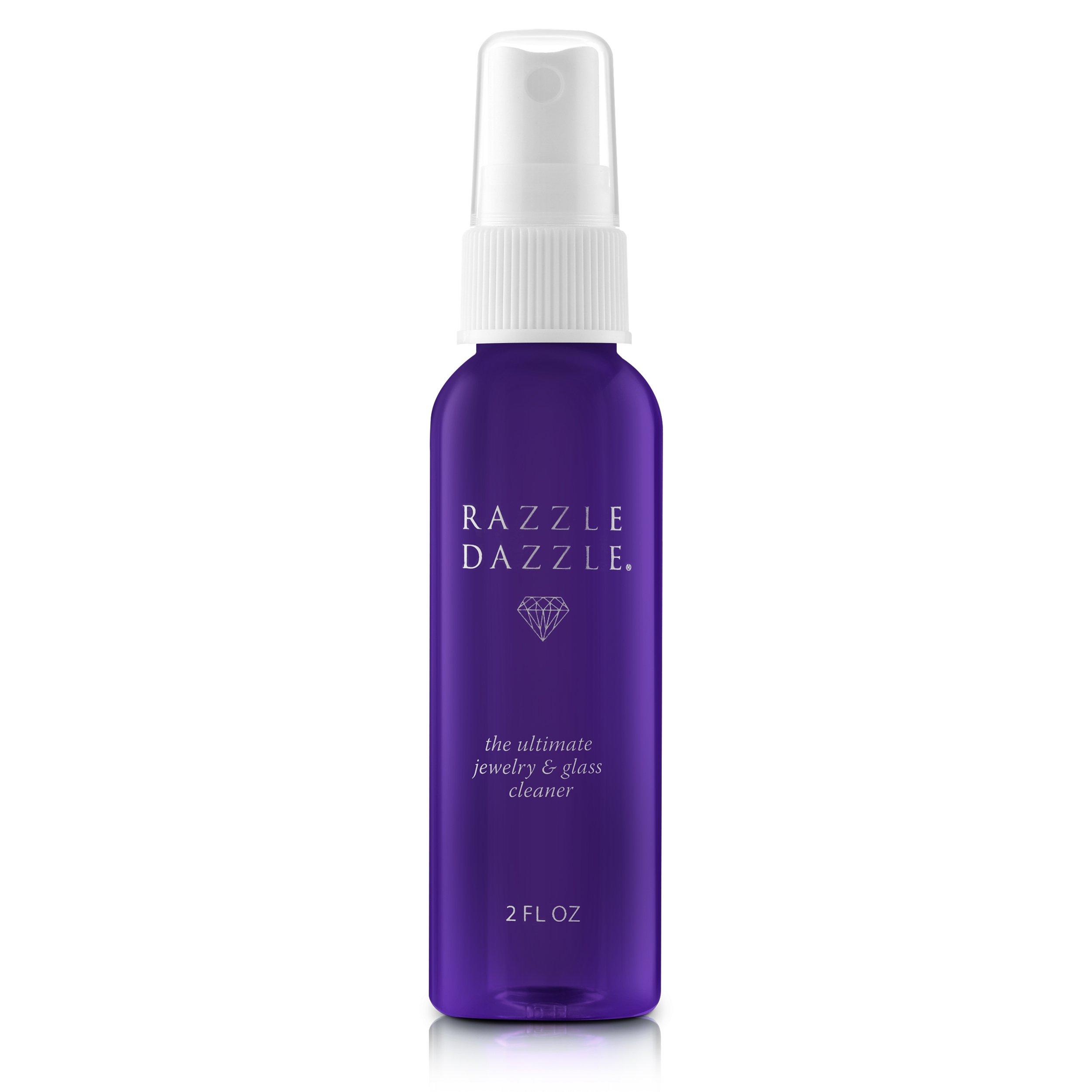 Razzle Dazzle Jewelry, Watch & Glass Cleaner Travel Spray Bottle, 2 oz.