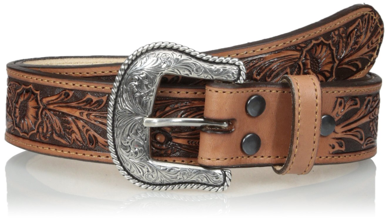 Nocona Men's Salinas USA Tan Belt, Brown, 42