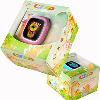 GBD niños reloj inteligente teléfono para niños con GPS Tracker Fitness tarjeta SIM podómetro anti-lost buscador de SOS pantalla táctil Smartwatch Pulsera ...