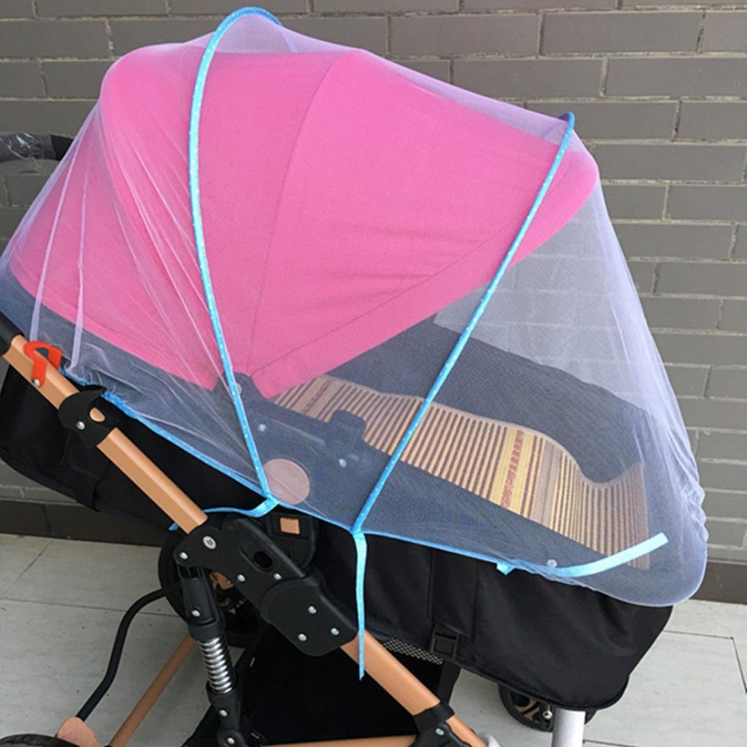 Creazy Baby Stroller Mosquito Net Full Insect Cover Carriage Kid Foldable Kids Netting (Pink) by CreazyDog® (Image #3)