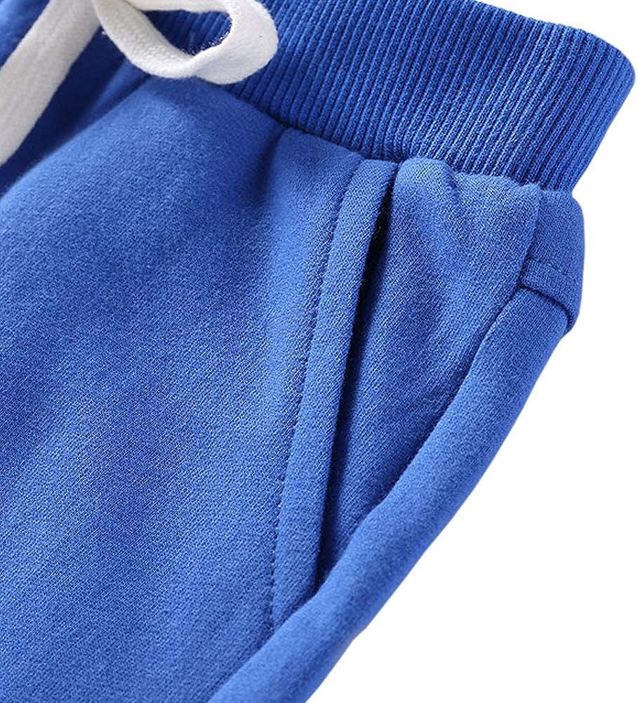 AOWKULAE Boys Cotton Knit Shorts