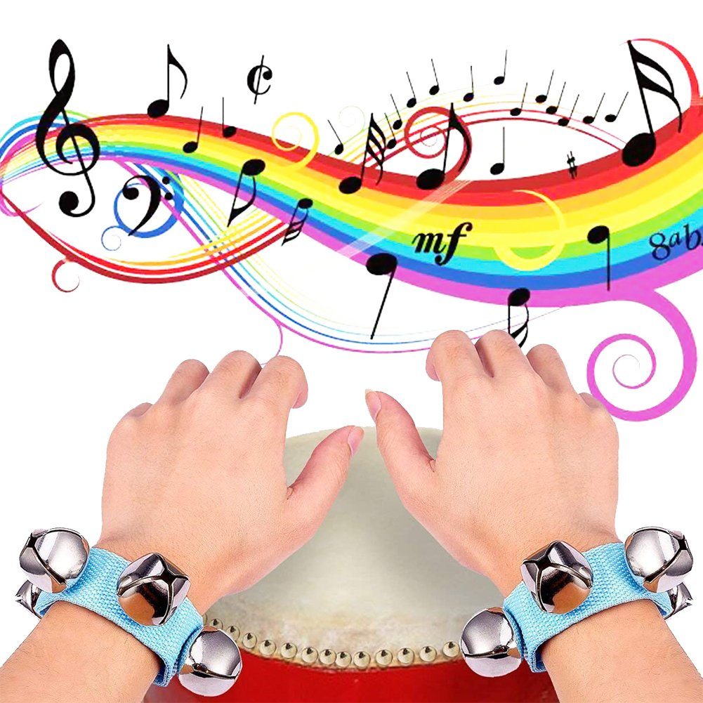 Amor Present SWEET-636 Amor 16 PCS Wrist Bell Jingle Bells Musical Rhythm Toys For School Party(Assorted Colors)