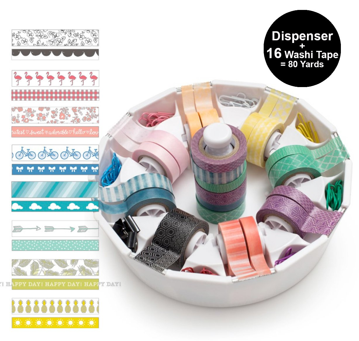 We R Memory Keepers Washi Tape Dispenser Dispenser Dispenser  16 Washi Tapes B077S8GCMD | Qualitätskönigin  7a8921