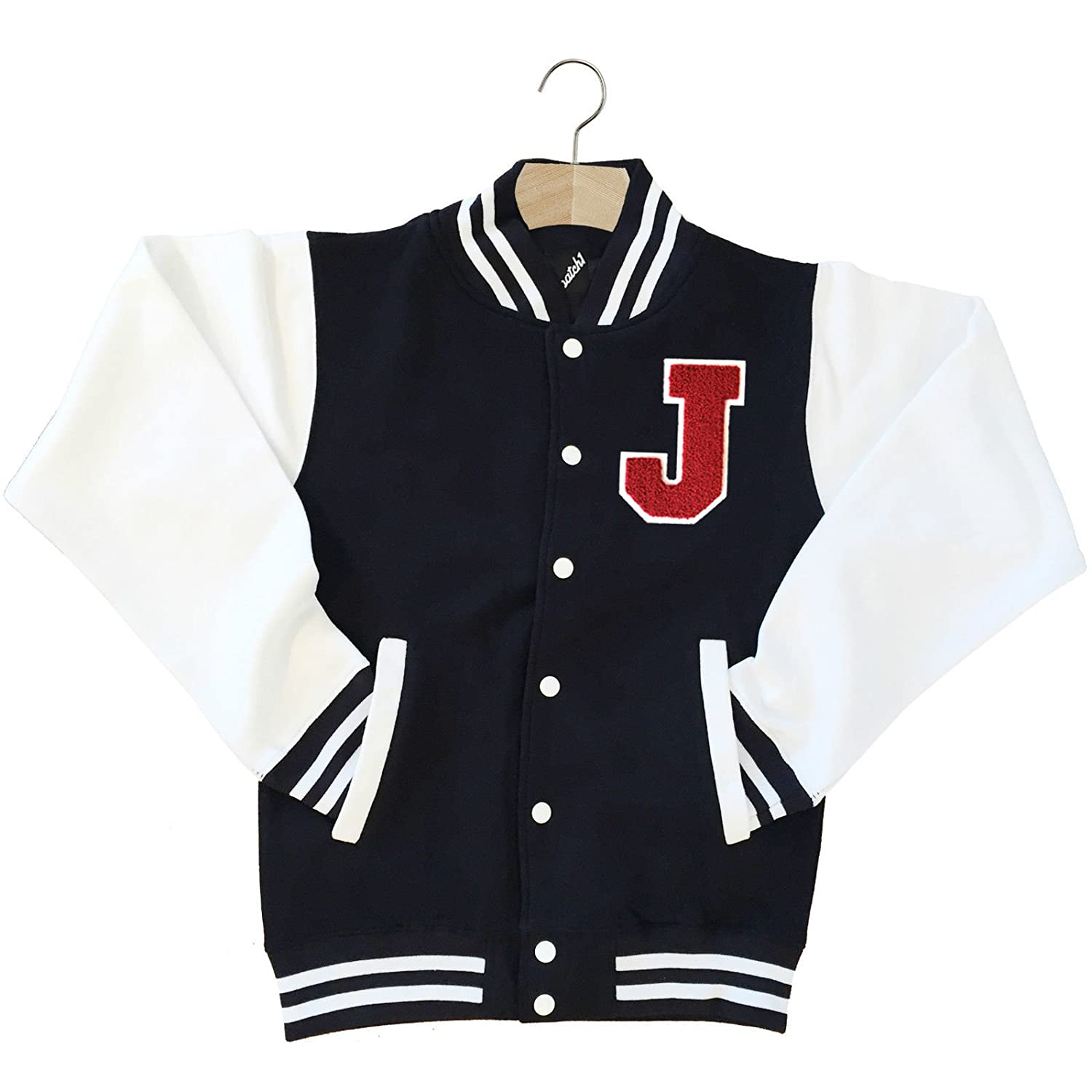 BATCH1 VARSITY BASEBALL JACKET UNISEX PERSONALISED WITH GENUINE US ...