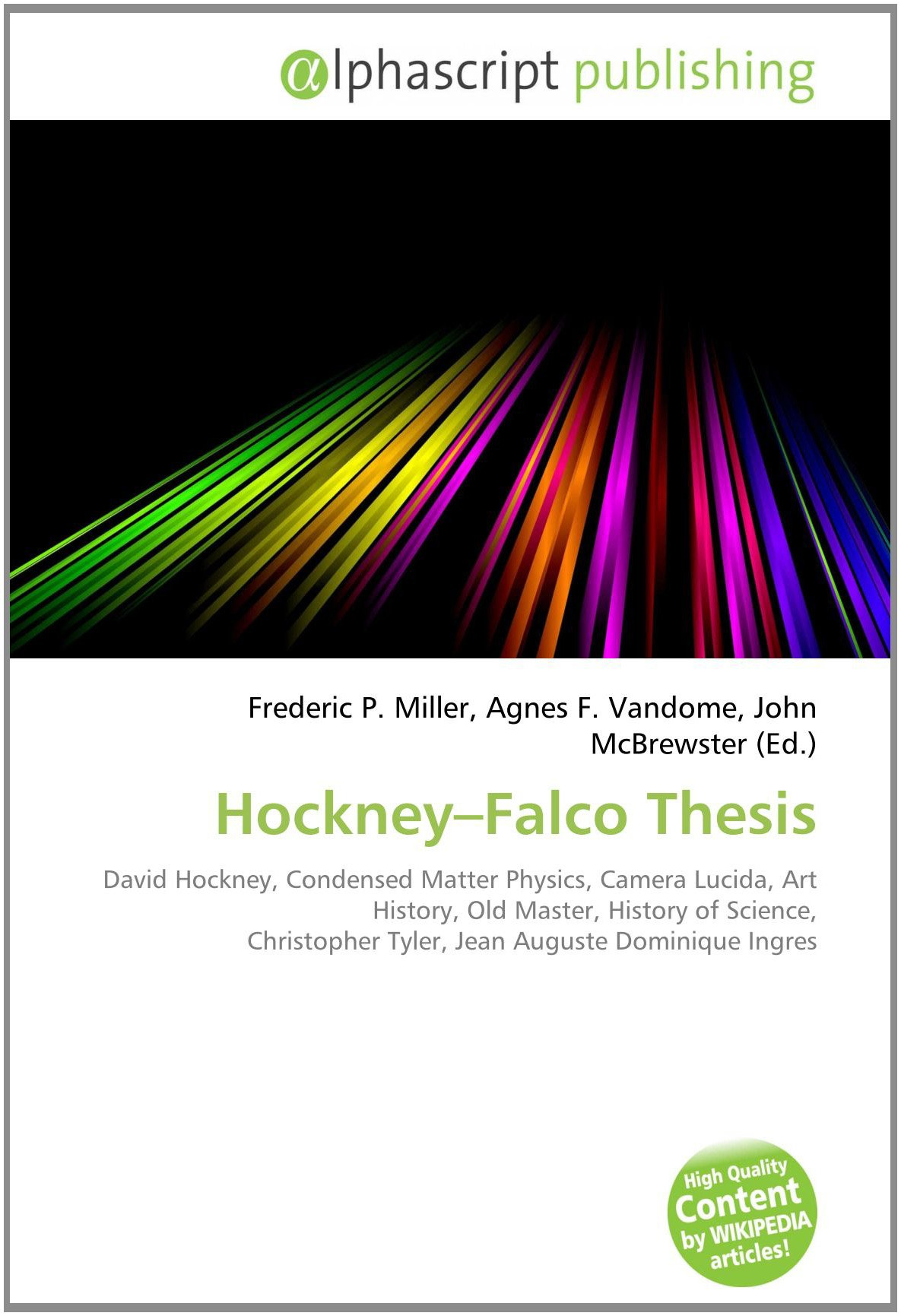 Hockney falco thesis objective for resume entry level healthcare