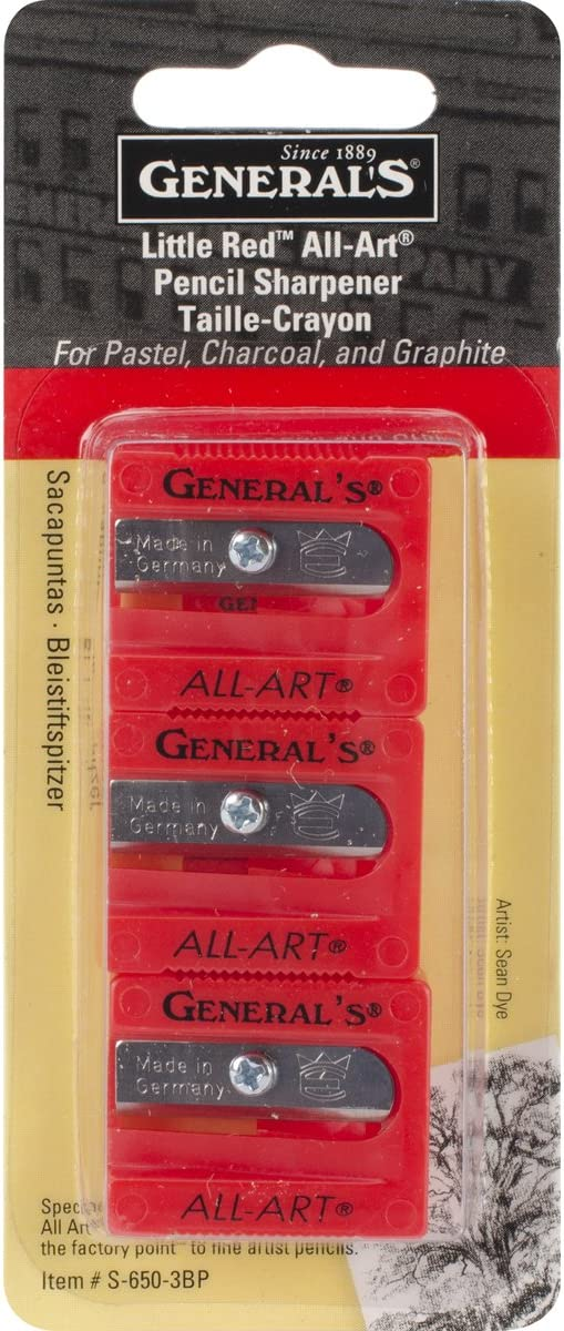 Little Red All-Art Pencil Sharpeners 3/Pkg- by General Pencil