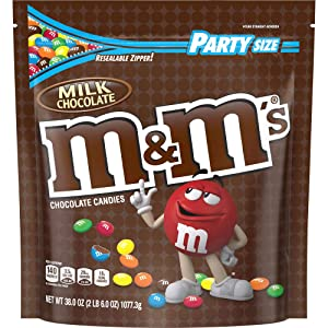 M&M'S Milk Chocolate Candy, 38-Ounce Party Size Bag