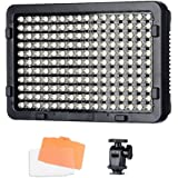 Tolifo PT-176S 176 Led Video Light Panel Ultra Bright Dimmable Video Light with 3200K/5600K Color Temperature for Canon Nikon and DSLR Camera PT-176S