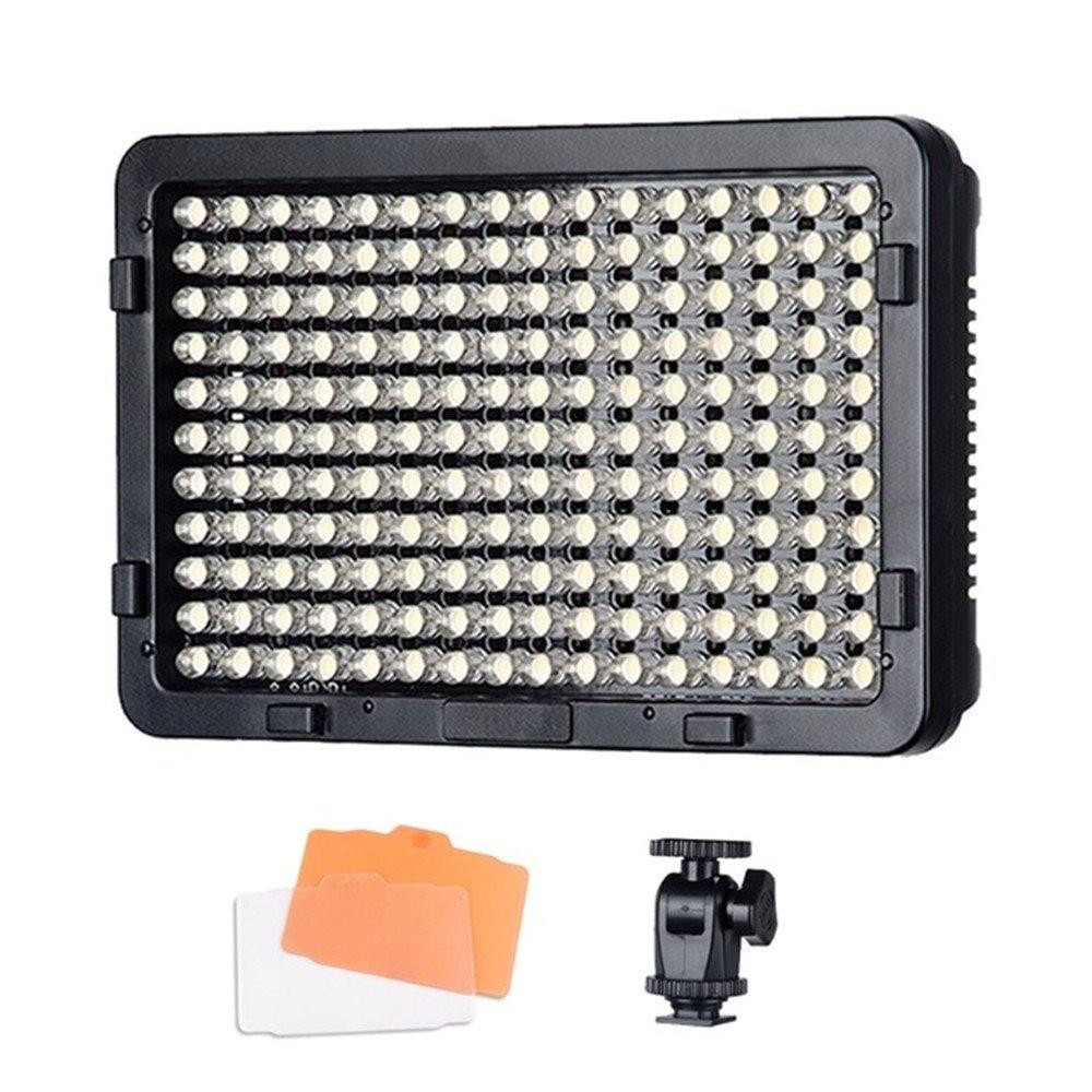 Tolifo PT-176S 176 Led Video Light Panel Ultra Bright Dimmable Video Light 3200K/5600K Color Temperature Canon Nikon DSLR Camera (Tolifo PT-176S)