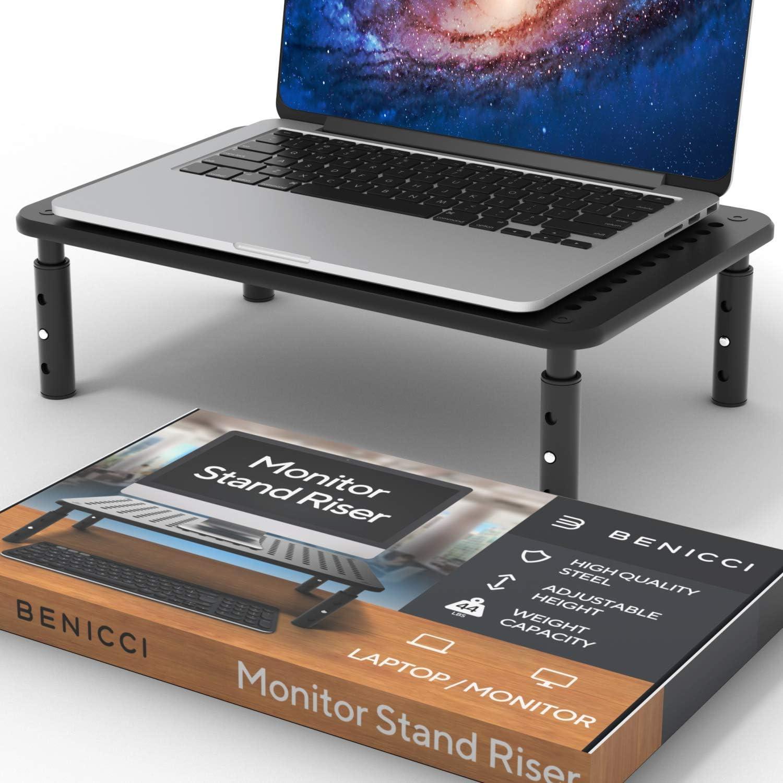 Deluxe Metal Laptop Stand for Desk - Adjustable 14