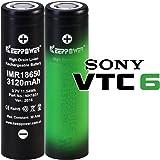 【日本製セル KEEPPOWER IMR 18650 3120mAh バッテリー】 30A 電子タバコ用 (2本組)