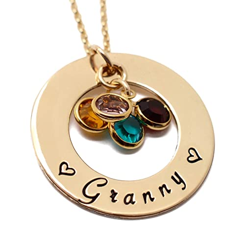 Mothers Day Gift Moms Gift Birthstone Jewelry Family Birthstone Necklace Personalized Gift Birthstone Necklace 14K Birthstone Necklace