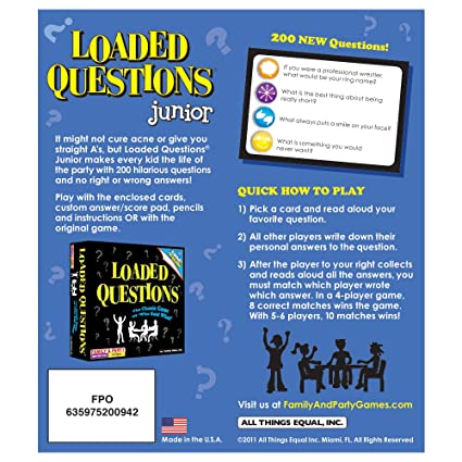 Amazon Loaded Questions Junior Toys Games