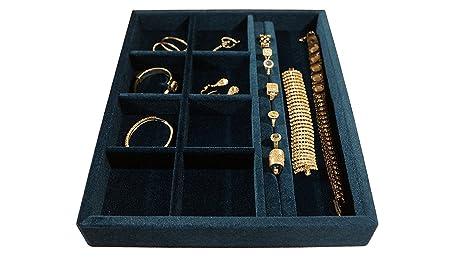 Amazoncom 15x12x2 Jewelry Organizer Wood and Velvet Tray