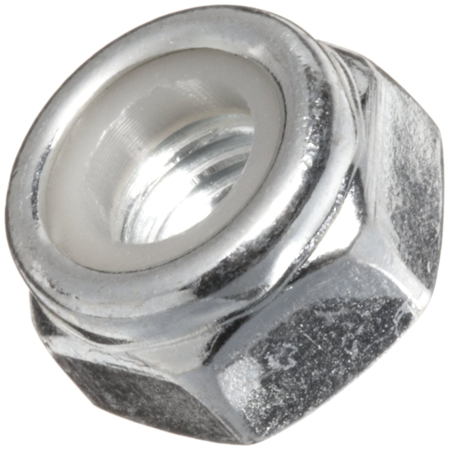 Plain Finish Pack of 100 Small Parts Steel Lock Nut Gray
