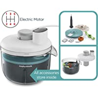 Morphy Richards 401012 Prepstar Food Processor for Innovative Meal Prep with All in One Easy Storage Solution, BPA Free Mixing Bowl 350 W, White