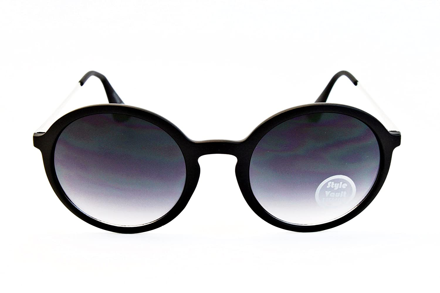 V3072-VP Style Vault Round Metal Temple Sunglasses