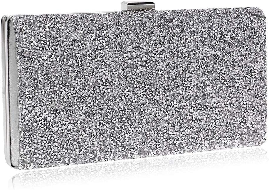 Color : D Techecho Bridal Clutch Purse New Womens Evening Bridal Prom Sparkly Crystal Rhinestone Party Ladies Clutch Bag Frosted Handbag Party