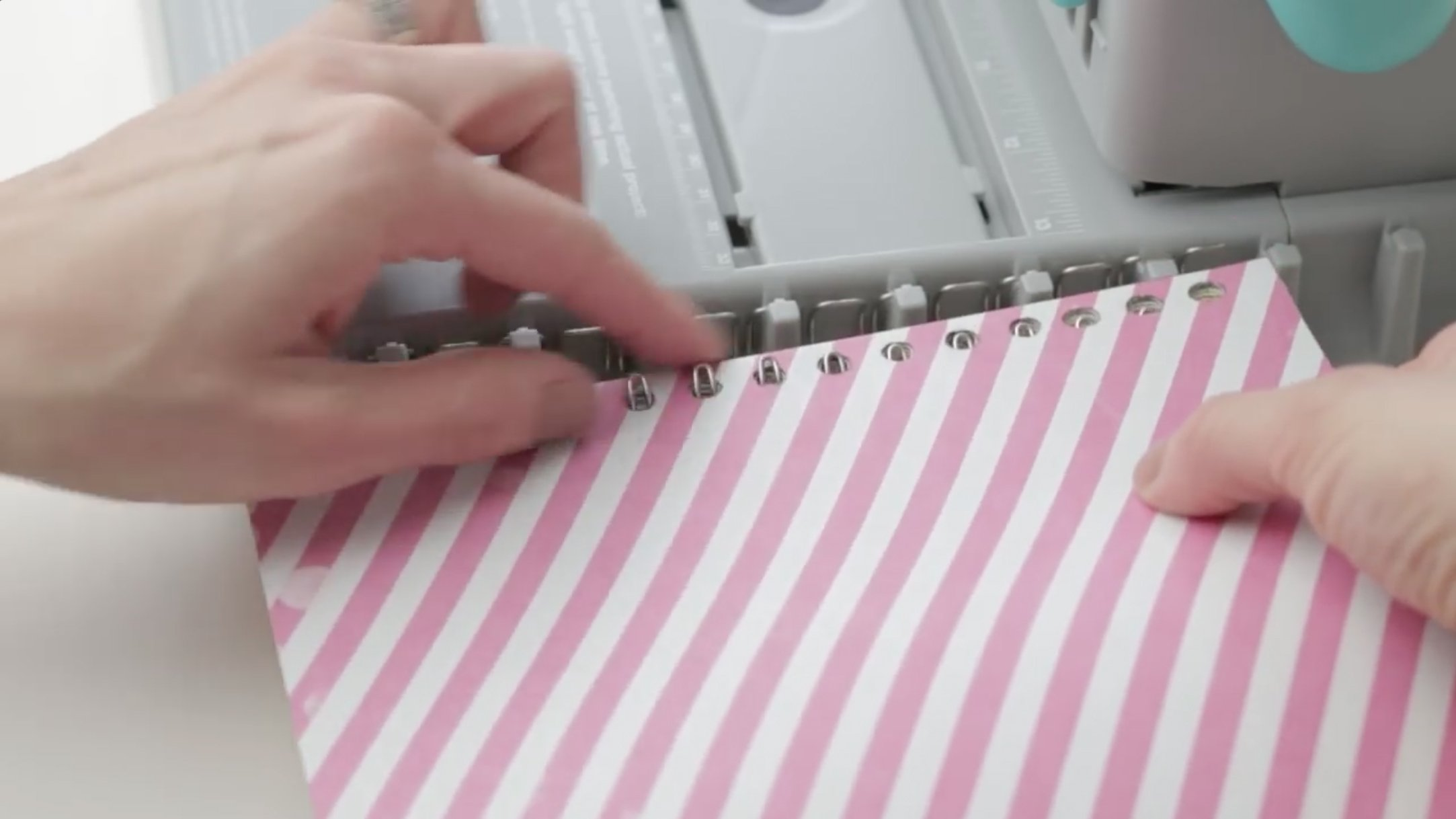 The Cinch Book Binding Machine, Version 2 by We R Memory Keepers   Teal and Gray by We R Memory Keepers (Image #7)