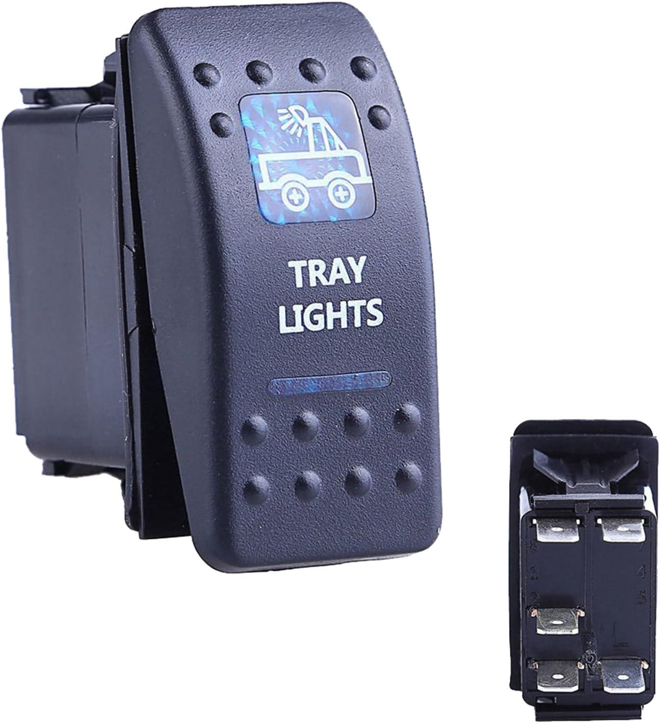 Oshide Auto Kfz Boot Blaue Led Beleuchtet Licht Wippschalter Ein Aus Schalter 12 24v Wasserdicht Tray Light Auto