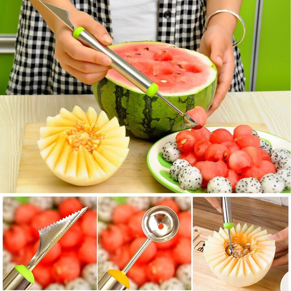 heaven2017 Fruit Melon Carving Spoon Stainless Steel Baller Digging Tools (Random Color) by heaven2017 (Image #4)