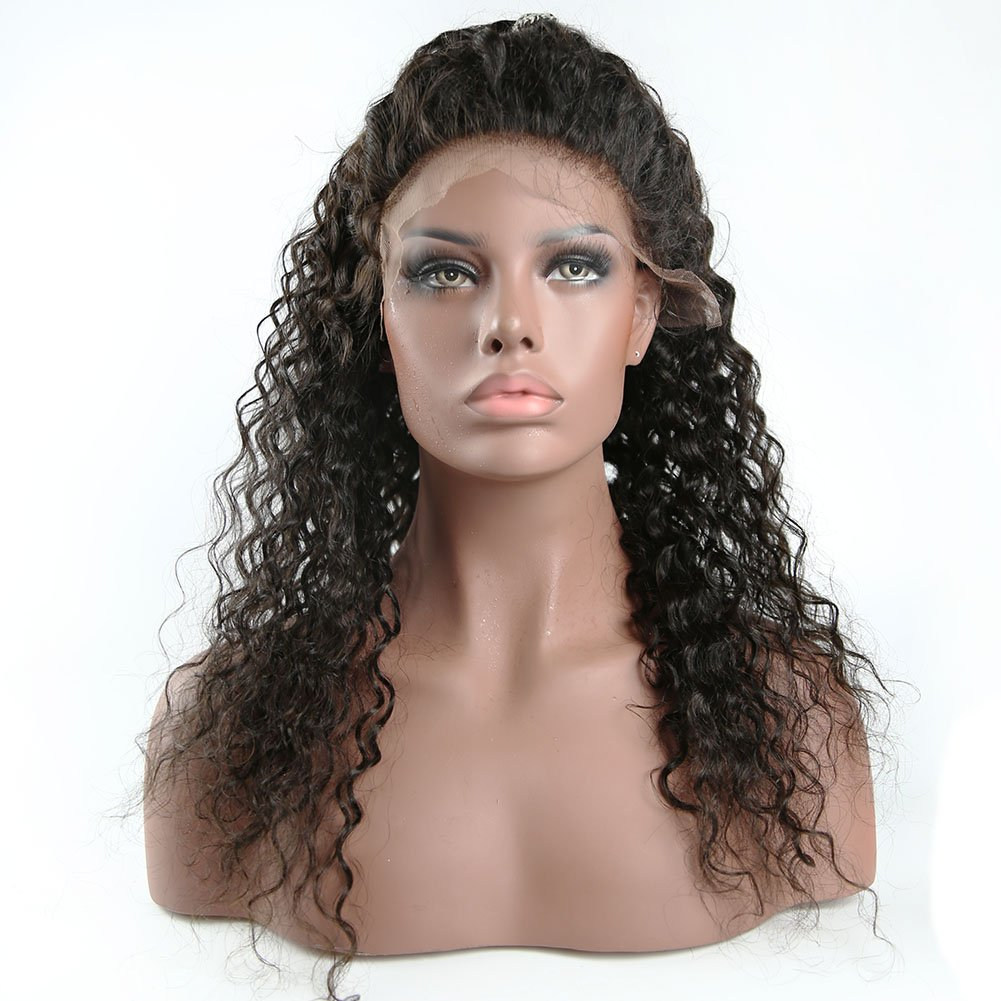 Amazon Curly Human Hair Lace Front Wigs 130 Density Brazilian