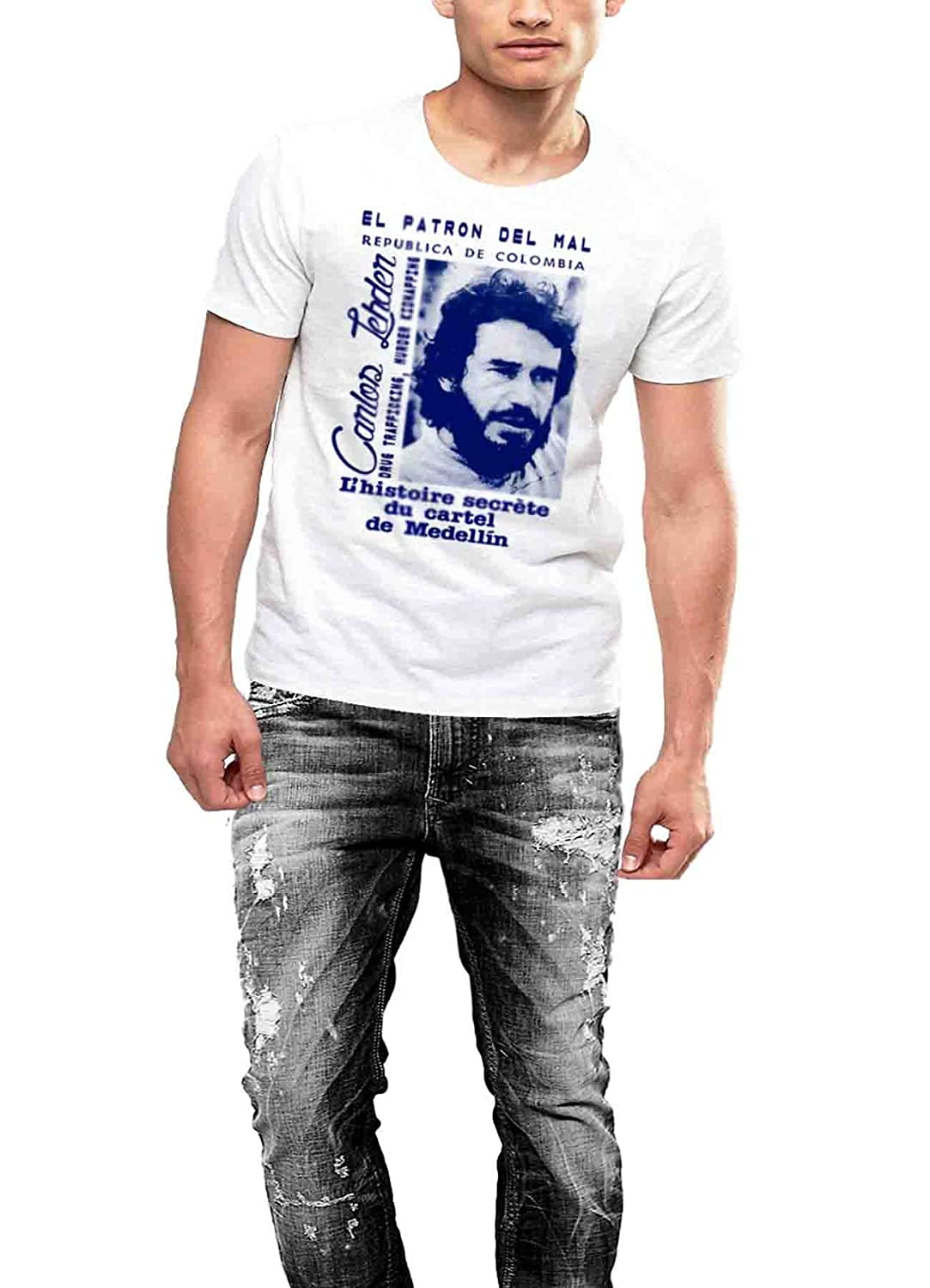 Pablo Escobar T-shirt Medellin Cartel Partner Carlos King of ...