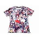 【東方project プロジェクト】 両面グラフィック Tシャツ Lサイズ キャラクター大集合