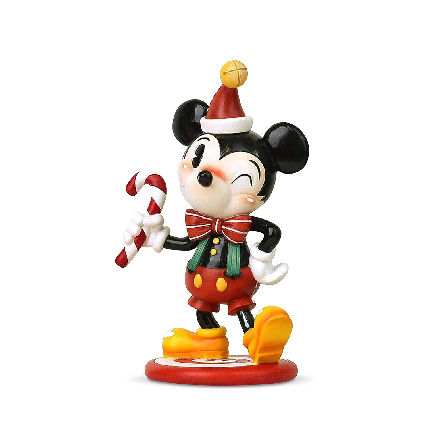 Enesco The World of Miss Mindy Christmas Mickey Mouse Figurine 5.91 Multicolor 6003765