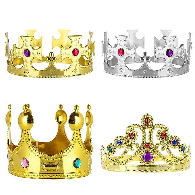Alvivi 4Pcs Coronas Cumpleaños Niños Disfraz Corona de ...