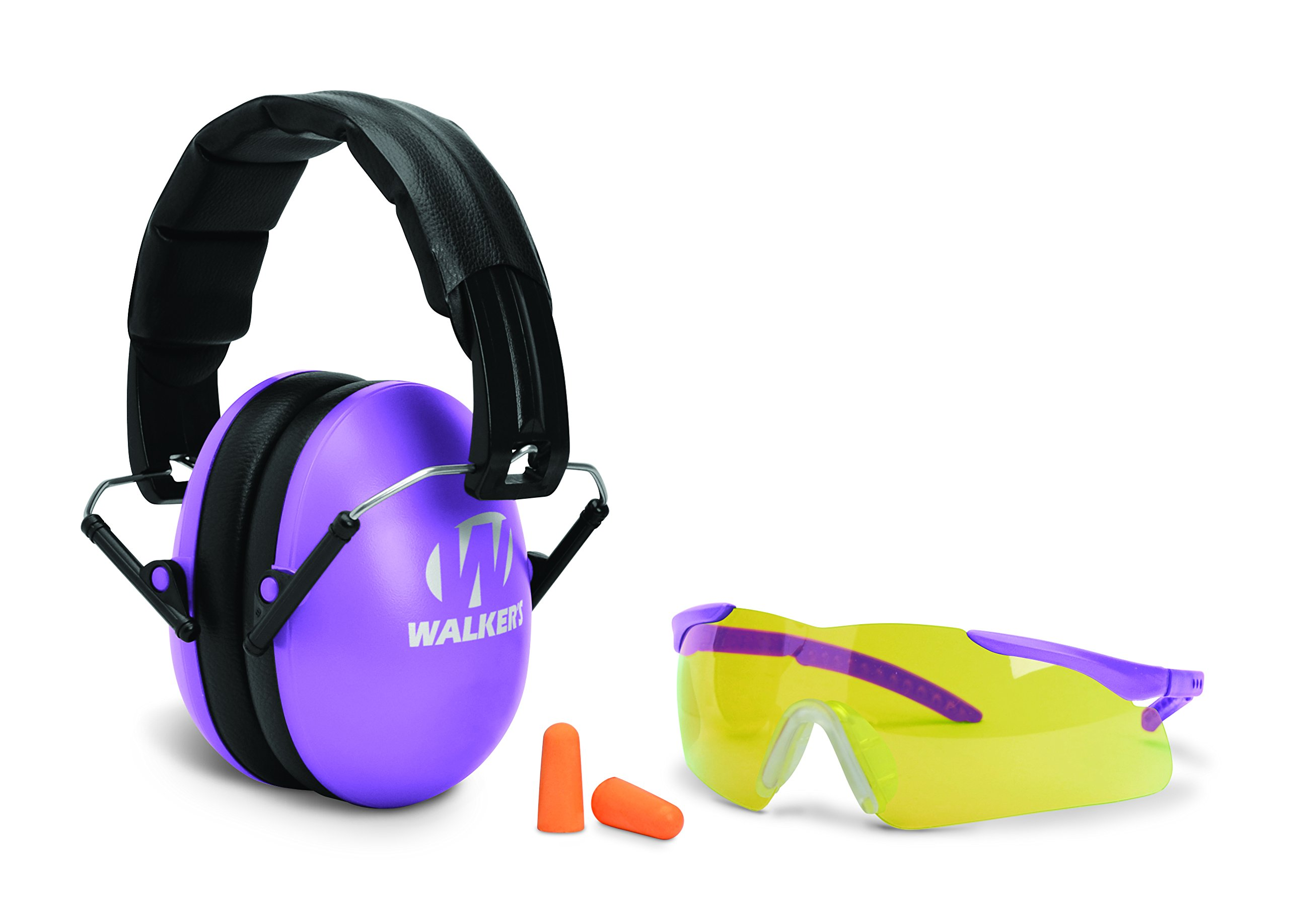 Youth and Women's Passive muff and Glasses combo, Purple by Walker's Game Ear