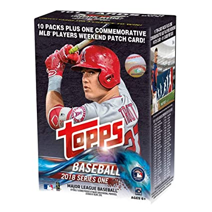 Topps 2018 Baseball Cards Series 1 Baseball Mass Value Box Factory Sealed