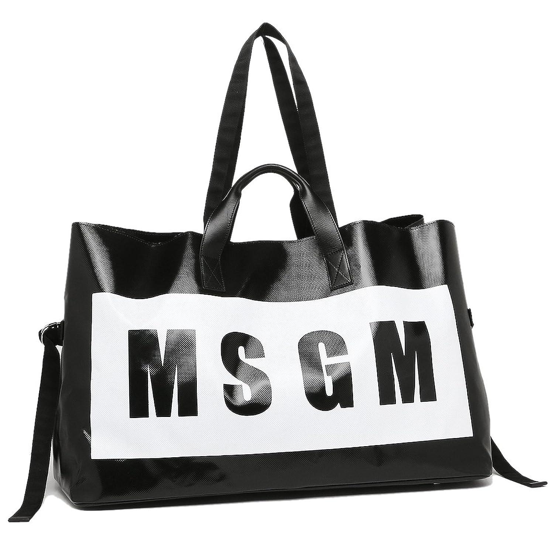 エムエスジーエム バッグ MSGM 2242MDZ80 401 レディース ボストンバッグ BLACK/WHITE [並行輸入品] B074MQ329T