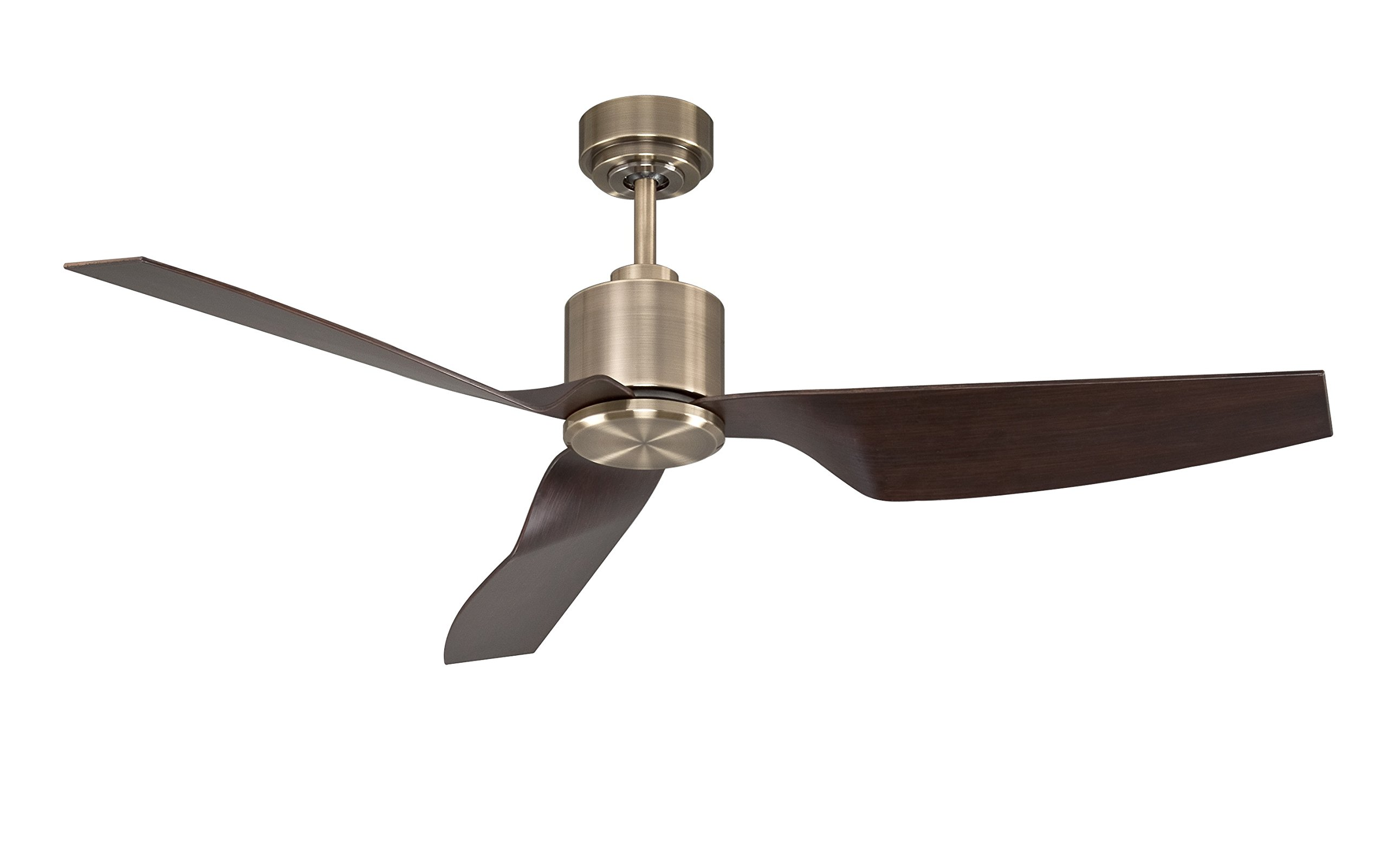Lucci Air 210526010 Climate II 3 Blade Indoor DC Motor Ceiling Fan with Remote Control, 50 Inch, Antique Brass with Walnut