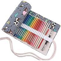 abaría - Estuche Enrollable para 36 lápices Colores