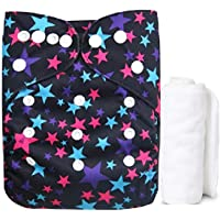 PEUBUD ® Reusable Washable Adjustable Cloth Diaper Pants Nappy for Newborn Babies with 1 Absorbent Wet Free Insert Overnight (0-2 Years Kids Pack of 1)