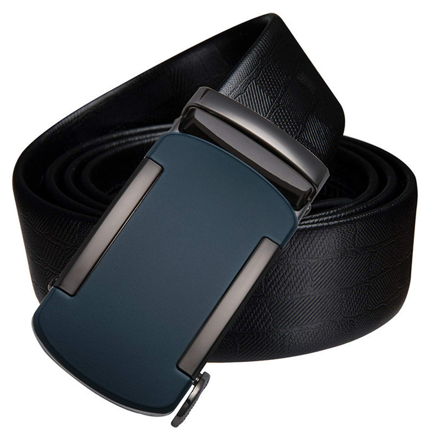 Luxury Cow Leather Fashion Automatic Buckle Black Genuine Leather Belts for Men