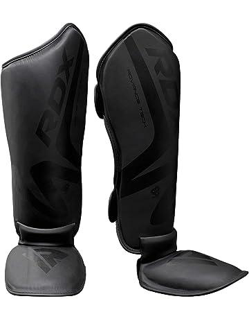 YZZR Prot/ège Tibia Boxe Proteges Tibia r/égl/és Combat de Combat MMA Muay Thai Lutte Contre Les Combats Entra/înement de Kick-Boxing Arts Martiaux Prot/ège-Tibias Prot/èges Pied