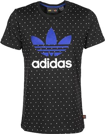 finest selection 6dc5b 72058 adidas Originals Mens Mens Pharrell Williams Human AOP T-Shirt in Black- White - L  adidas Originals  Amazon.co.uk  Clothing