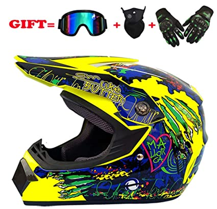 Amazon.es: SK-LBB Casco de motocross para niños, casco de cross ...