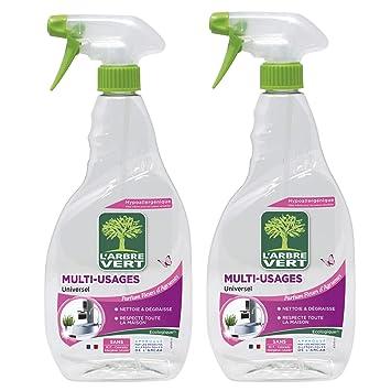 LArbre Vert Espray de limpieza multiusos, 740 ml, lote de 2 ...