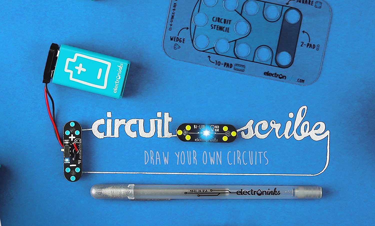 Circuit Scribe Basic Kit Includes Stem Workbook Electronic Stickers Interactive Games Chinitronics Conductive Silver Ink Pen To Learn Explore And Create Your Own Circuits Switches