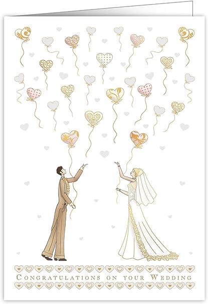 Quire Mac - Tarjeta de felicitación de boda (tamaño extra grande ...