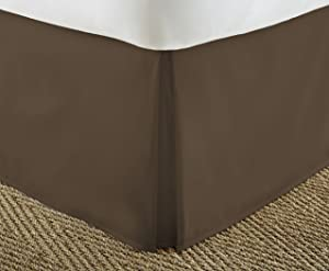 ienjoy Home Home Collection Pleated Bed Skirt, Twin, Chocolate