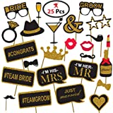 Party Propz Bachelorette Theme Photobooth Props - Pack of 36