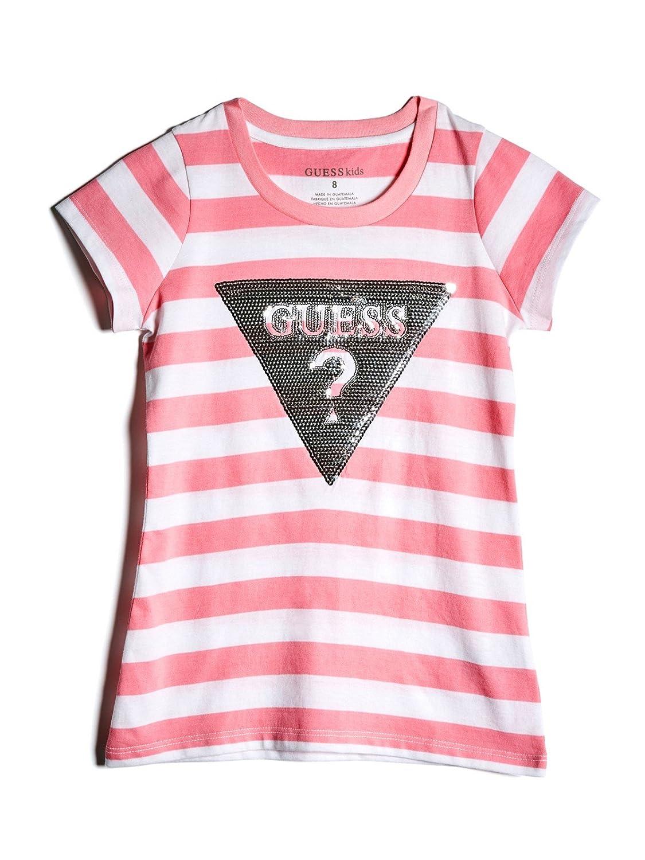 Guess Factory Beatrix Stripe Logo Tee (7-16) GuessFactory