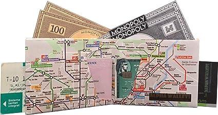 Cartera Metro Barcelona Monedero diseño Metro Barcelona ...