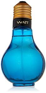 Watt Blue By Cofinluxe for Men Eau De Toilette Spray, 3.4-Ounce