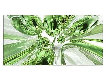 Exklusives Glasbild EG4100500708 BUBBLES DESIGN GRÜN 100x50cm ...